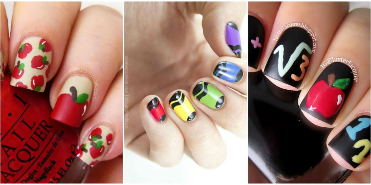 10 Cute Back-to-School Nails - Best Nail Art Design Ideas ...