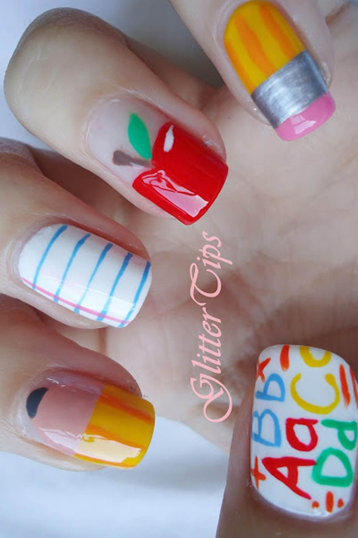 10 Cute Back-to-School Nails - Best Nail Art Design Ideas for School