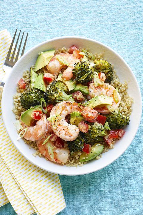 gluten free dinner - Shrimp Bowls with Scallion Vinaigrette #dinner #recipe #glutenfree #gf #whole30 #healthydinner #dairyfree
