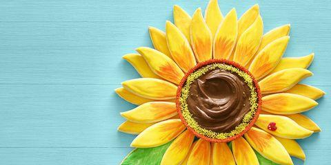 Sunflower, Yellow, Flower, sunflower, Petal, Plant, Sunflower seed, Gerbera, Close-up, Vegetarian food,