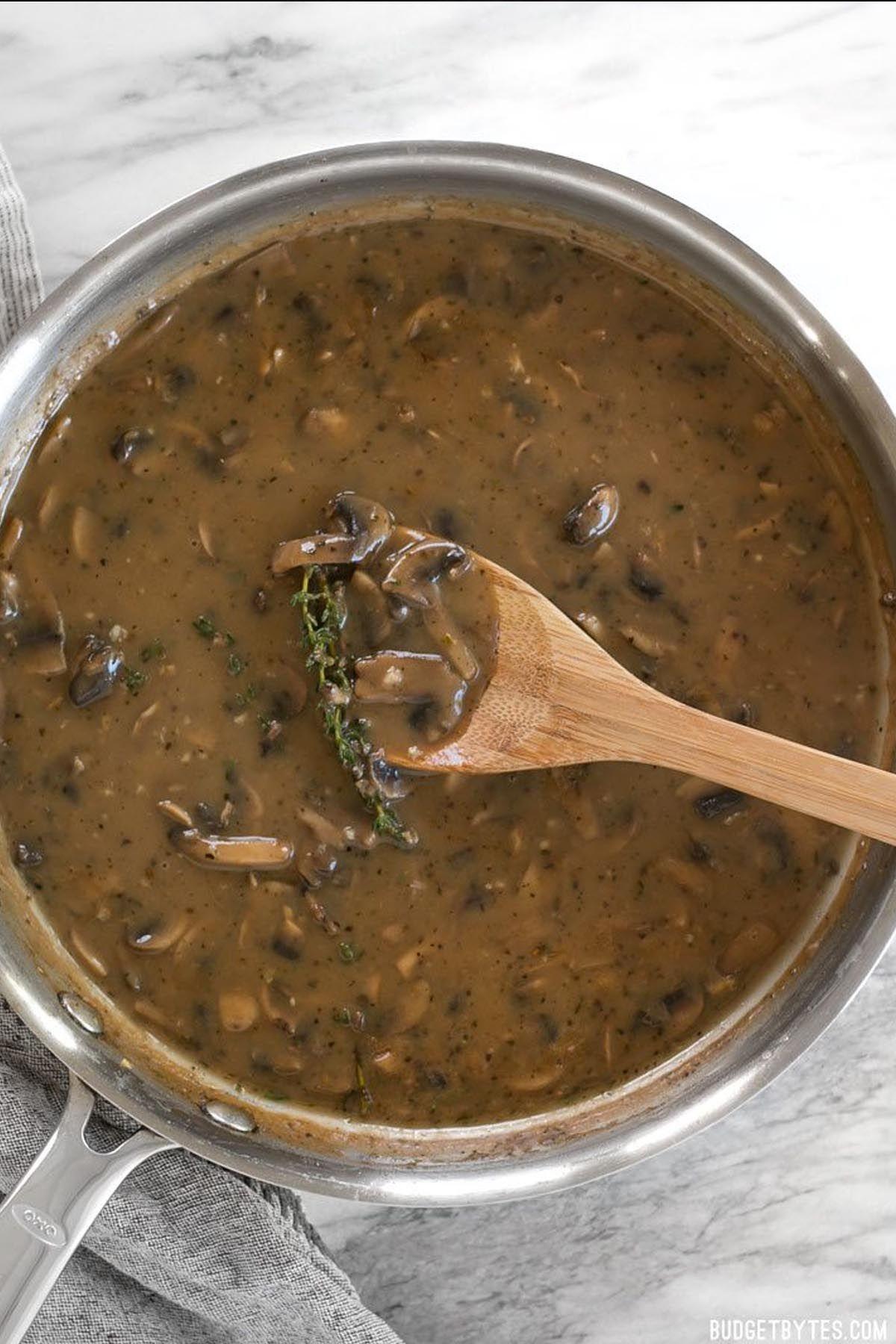 Mushroom Herb Gravy Recipe