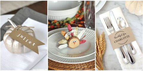thanksgiving place cards - Table Place Cards