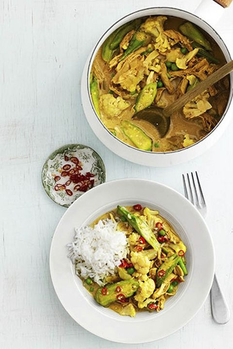 christmas food ideas chicken and okra curry