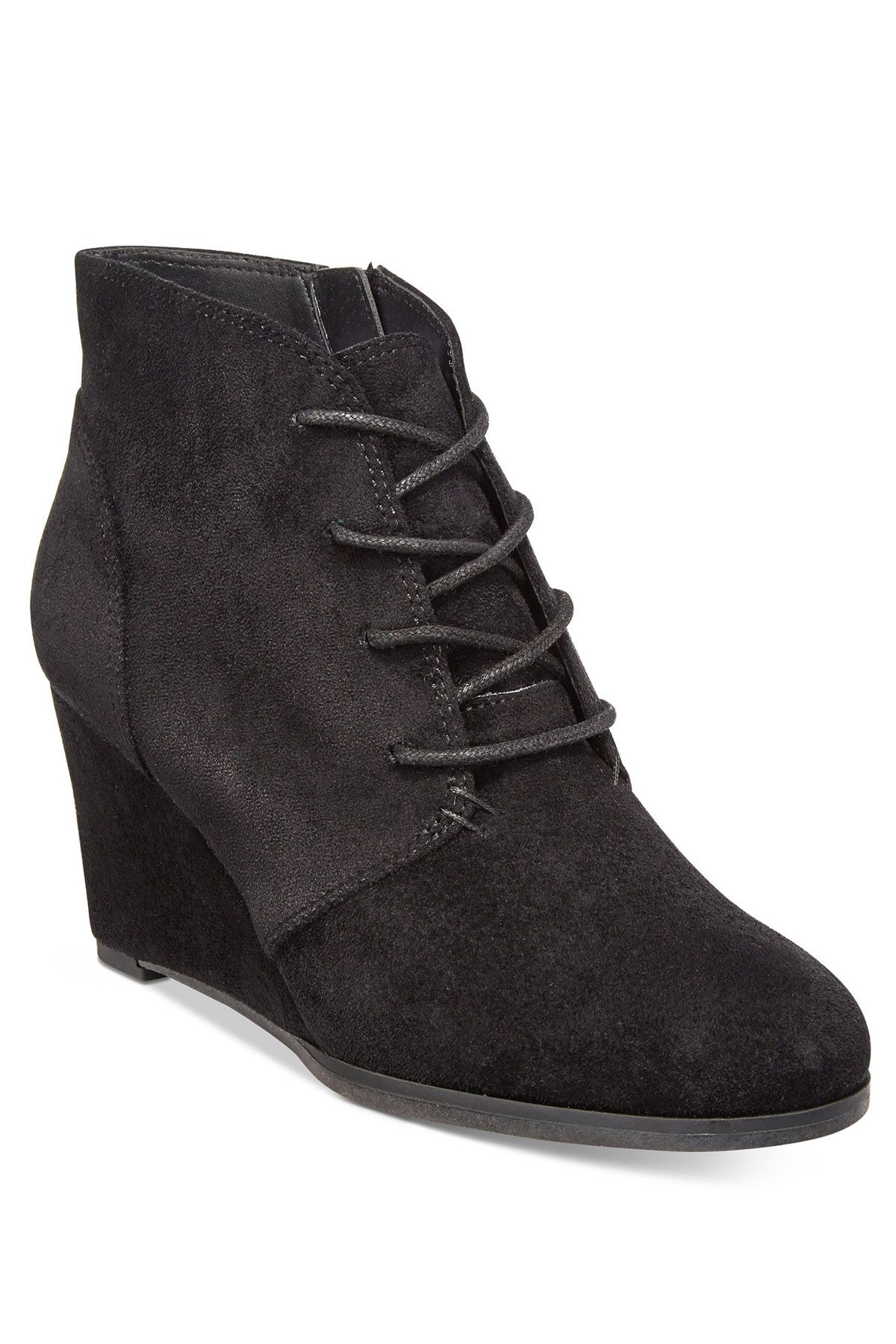 Fall Boots - American Rag Lace-Up Wedge Booties