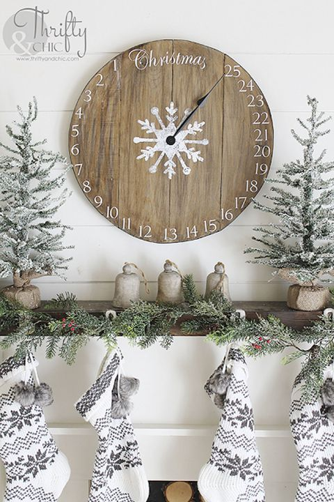 christmas decorating ideas wood clock christmas