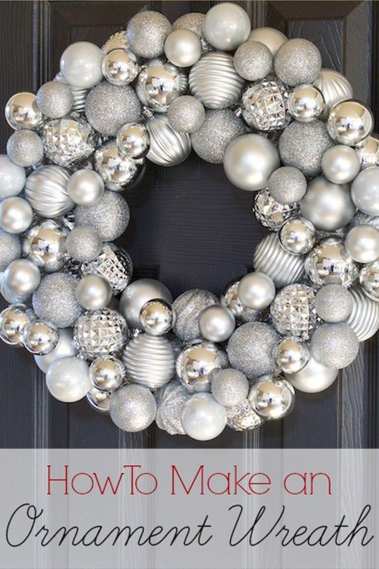 how to make white christmas wreath