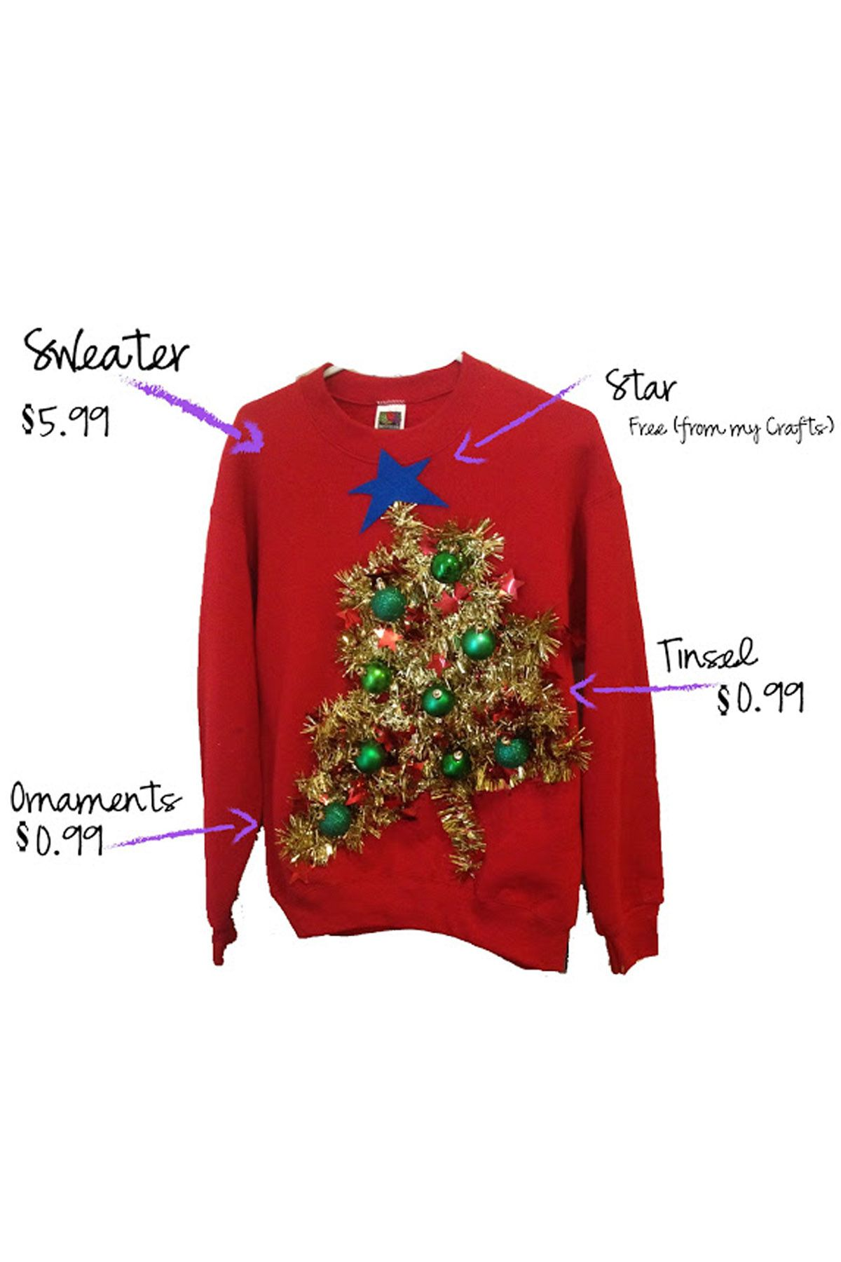 02905f1a5e3 22 Ugly Christmas Sweater Ideas to Buy and DIY - Tacky Christmas Sweaters  for Women