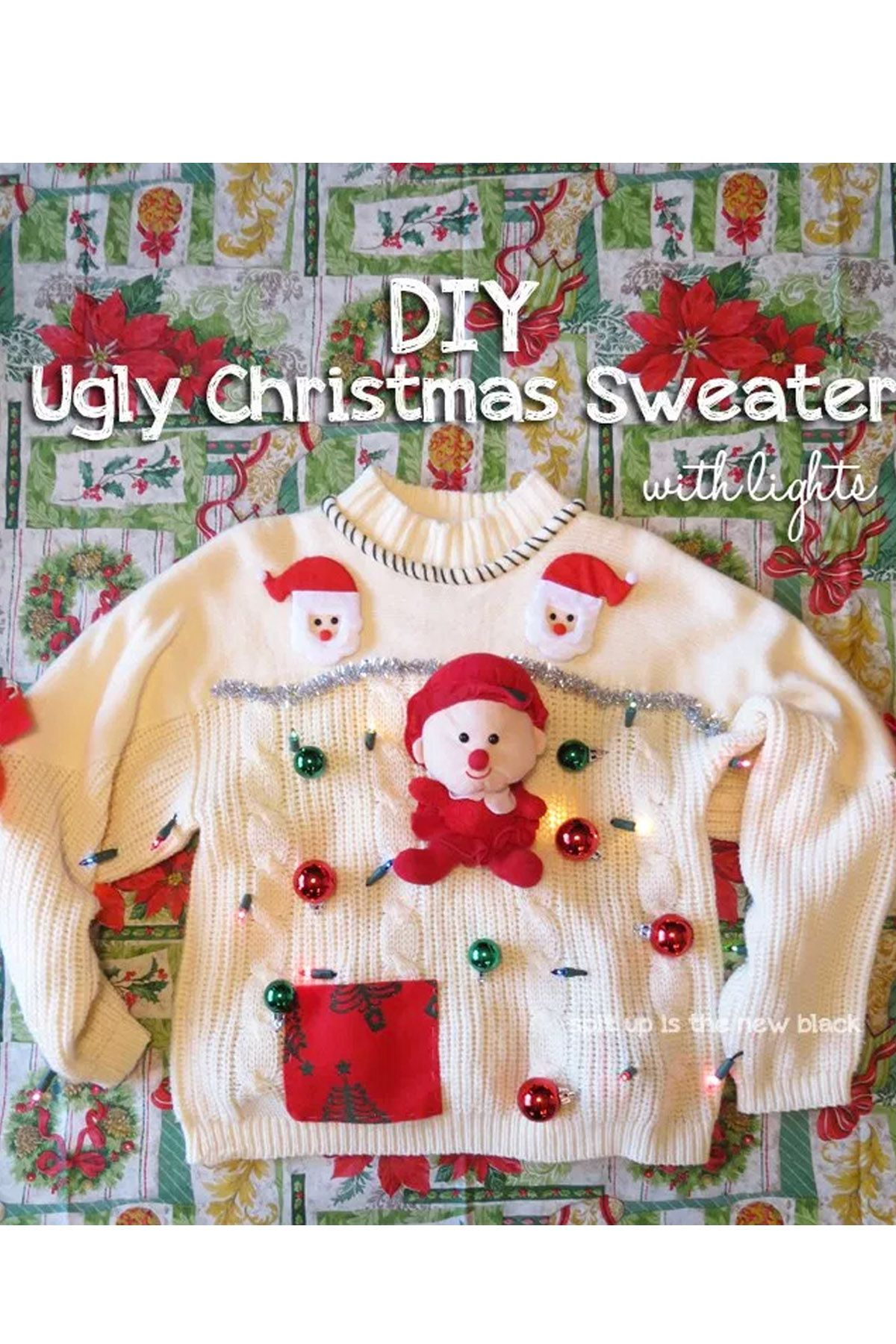 23 ugly christmas sweater ideas to buy and diy tacky christmas 23 ugly christmas sweater ideas to buy and diy tacky christmas sweaters for women solutioingenieria Choice Image