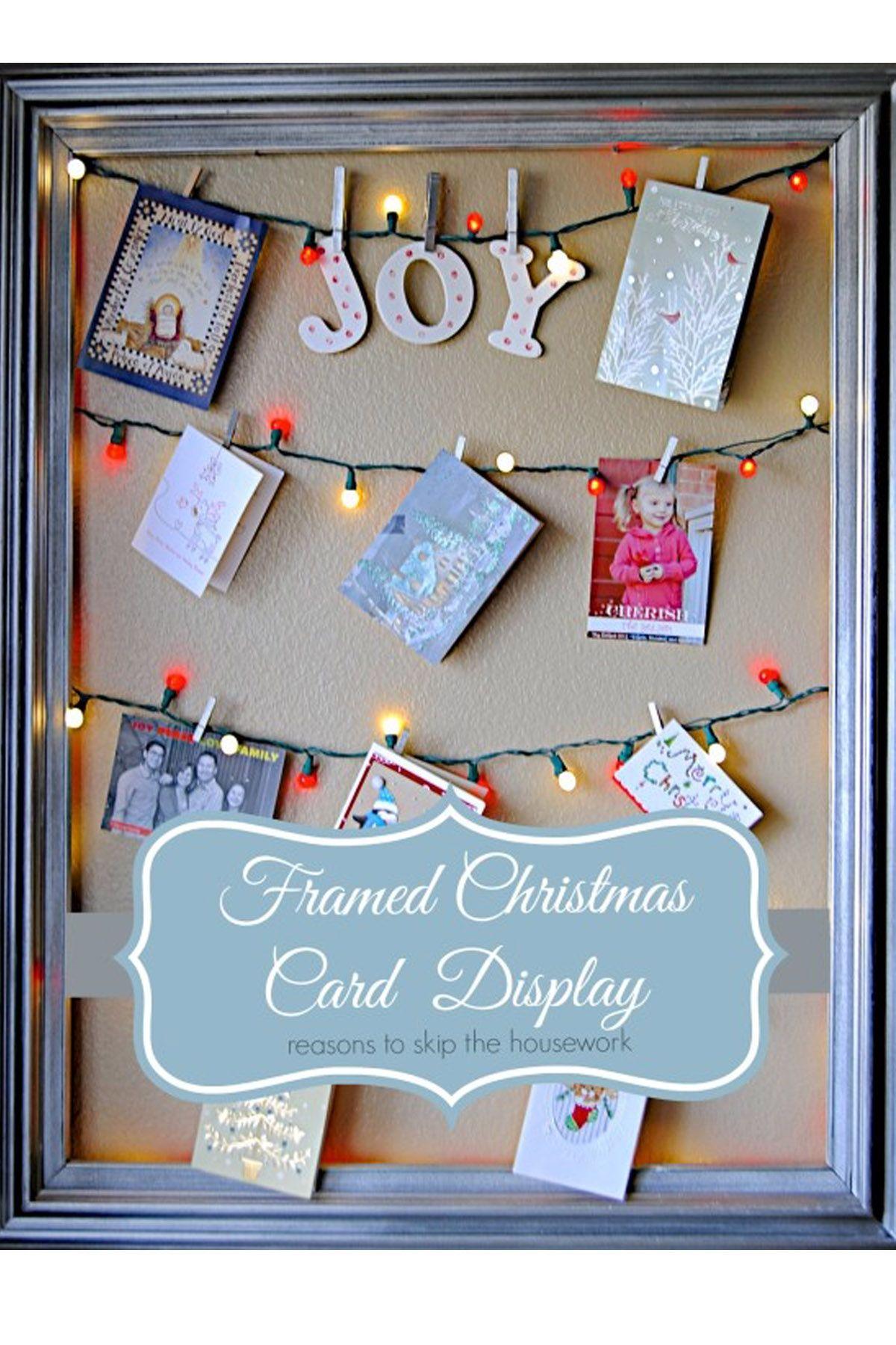 14 DIY Christmas Card Holder Ideas