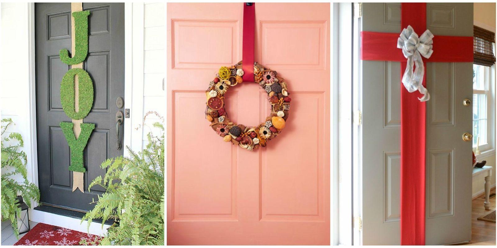 christmas front door decorations & 5 Best Christmas Door Decorations - How to Decorate Your Door for ...