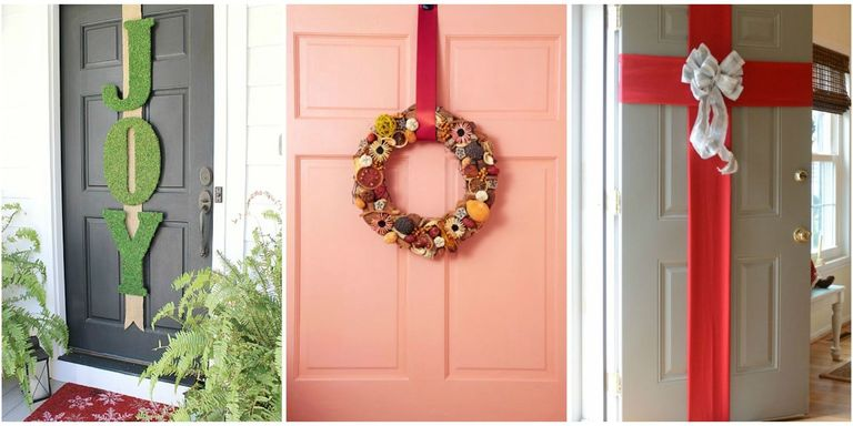 5 best christmas door decorations how to decorate your for Front door decoration indian style