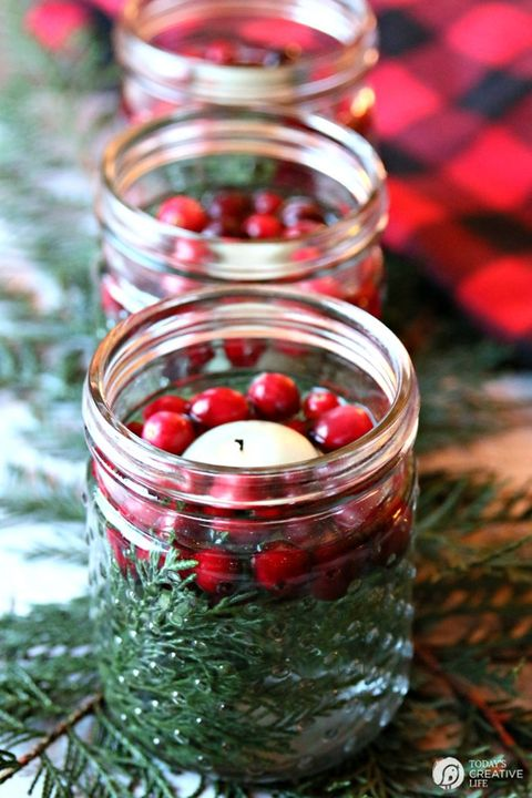 christmas table decorations christmas luminaries - Simple Christmas Table Decorations