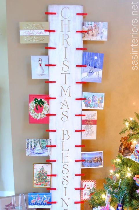 Christmas Card Display.20 Diy Christmas Card Holder Ideas How To Display