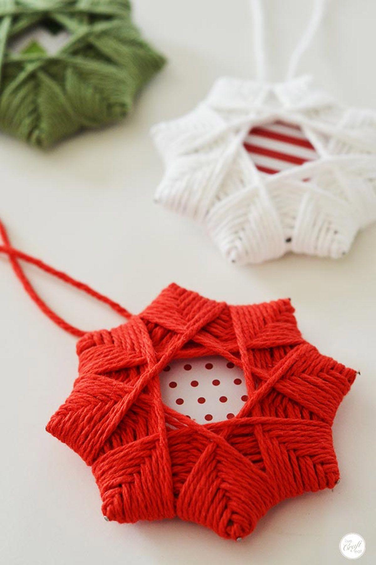 42 Homemade DIY Christmas Ornament Craft Ideas - How To Make Holiday ...
