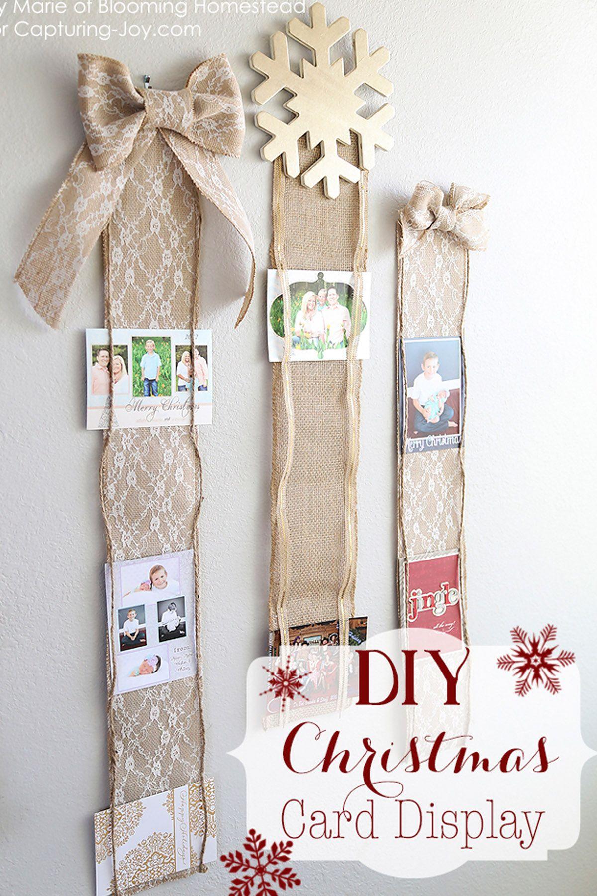 Christmas Card Holder Ribbon Decor