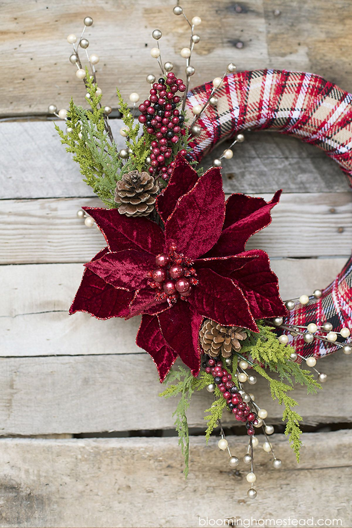 Christmas Ribbon Wreaths.20 Diy Christmas Wreath Ideas Homemade Holiday Wreath