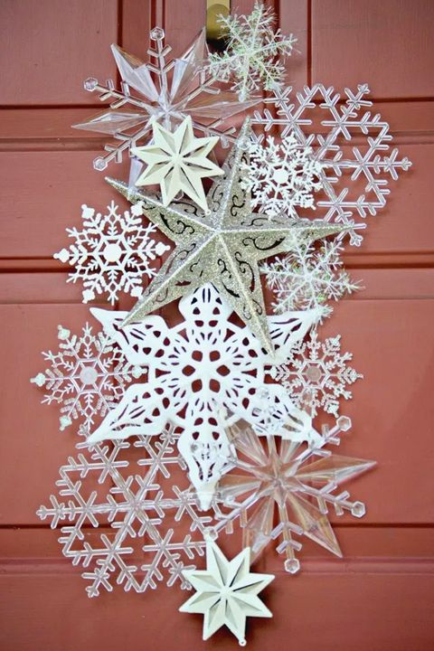 christmas crafts snowflake door hanger - Christmas Decoration Crafts