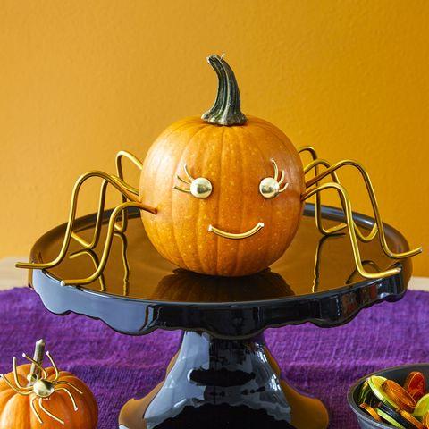 no carve pumpkin ideas - golden widow