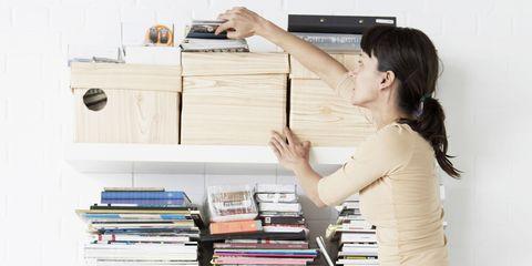 Shelf, Desk, Shelving, Furniture, Room, Bookcase, Interior design, Document, Wood, Paper,