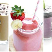 Food, Smoothie, Health shake, Milkshake, Drink, Dessert, Batida, Non-alcoholic beverage, Cuisine, Ingredient,