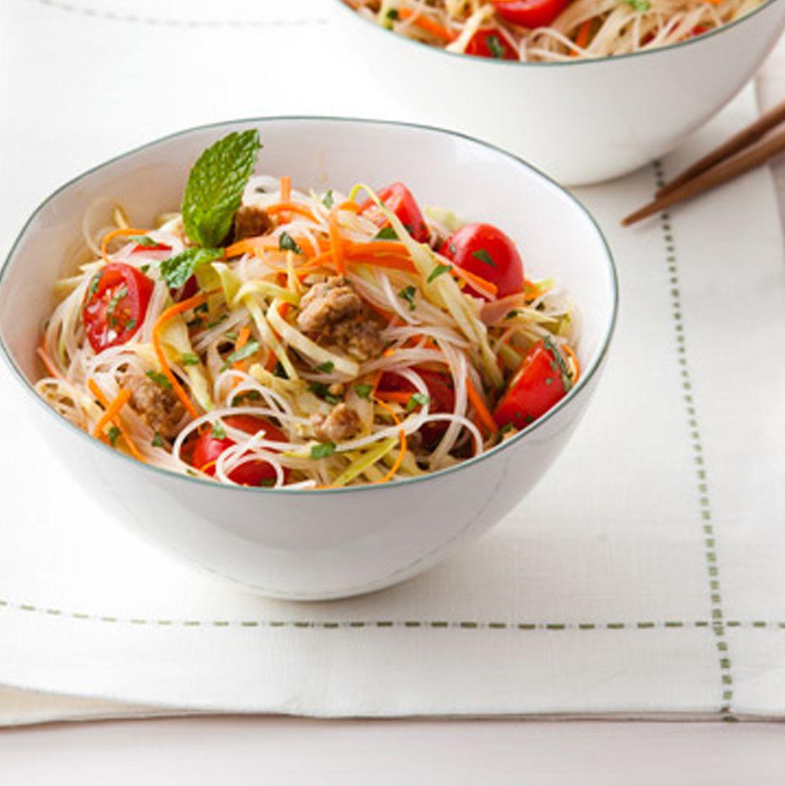 Ground Pork Recipes - Spicy Thai Noodle Salad