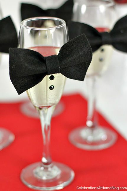 New Years Eve Table Decorations mini bow ties