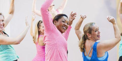 Physical fitness, Dance, Arm, Pink, Shoulder, Exercise, Zumba, Fun, Pilates, Aerobics,