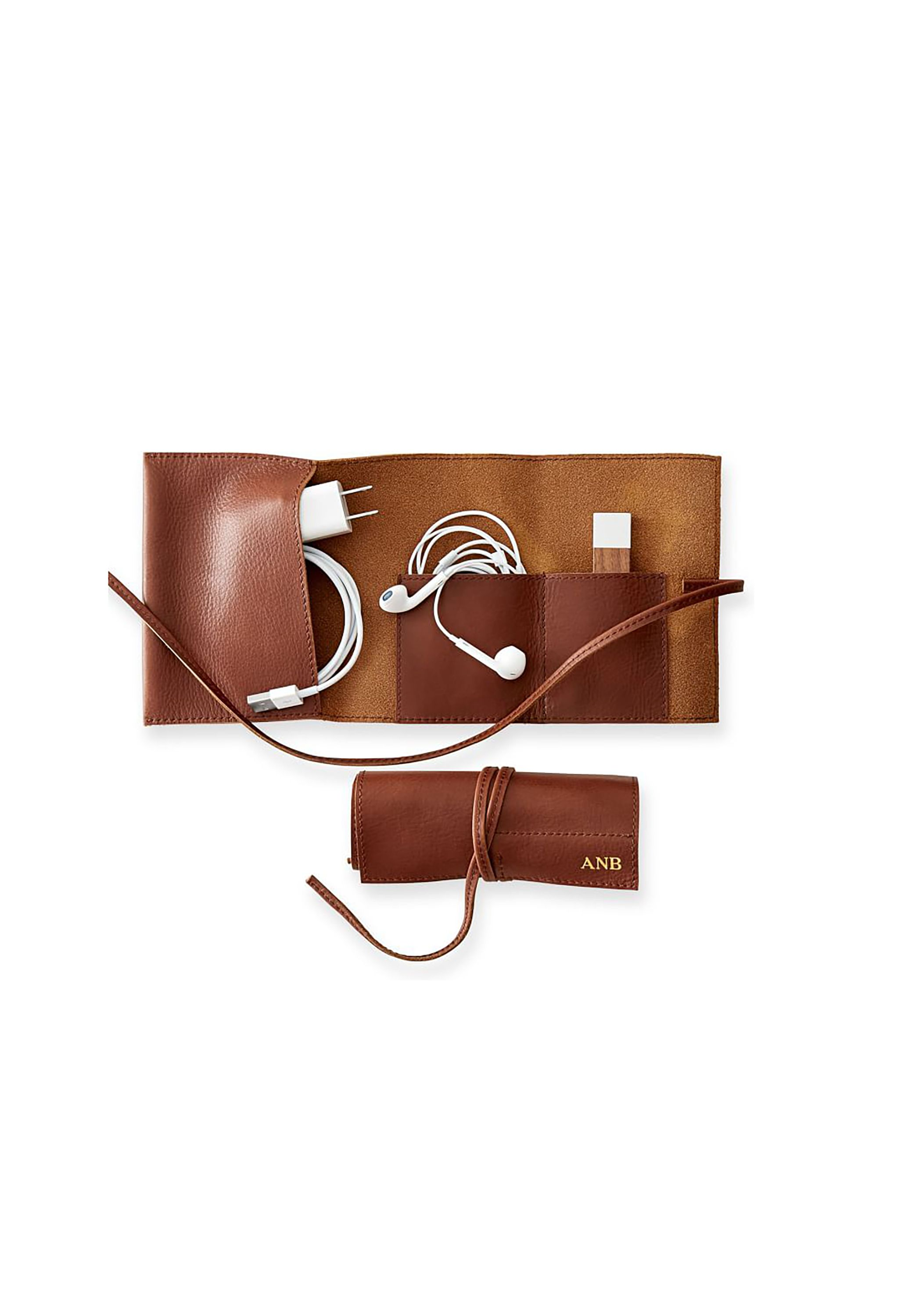 Travel Gifts for Her - Leather Charger Roll Up  sc 1 st  Womanu0027s Day & 26 Best Travel Gifts for Her - Unique Christmas Gift Ideas for Travelers
