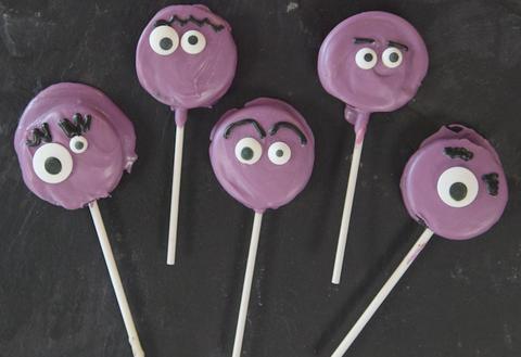 halloween cookies   oreo monster pops