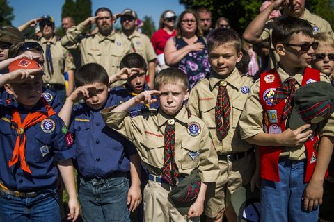 Boy scouts of america, People, Social group, Scout, Troop, Youth, Team, Crowd, Event, Uniform,