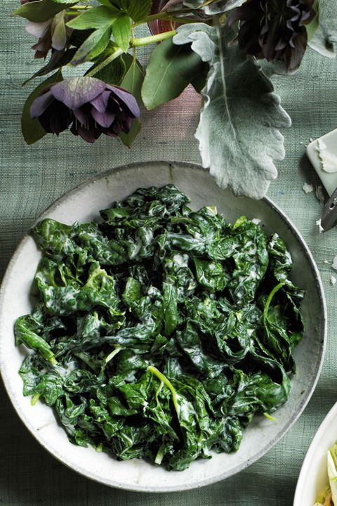 Creamy Garlic and Herb Spinach Thanksgiving Side Dishes