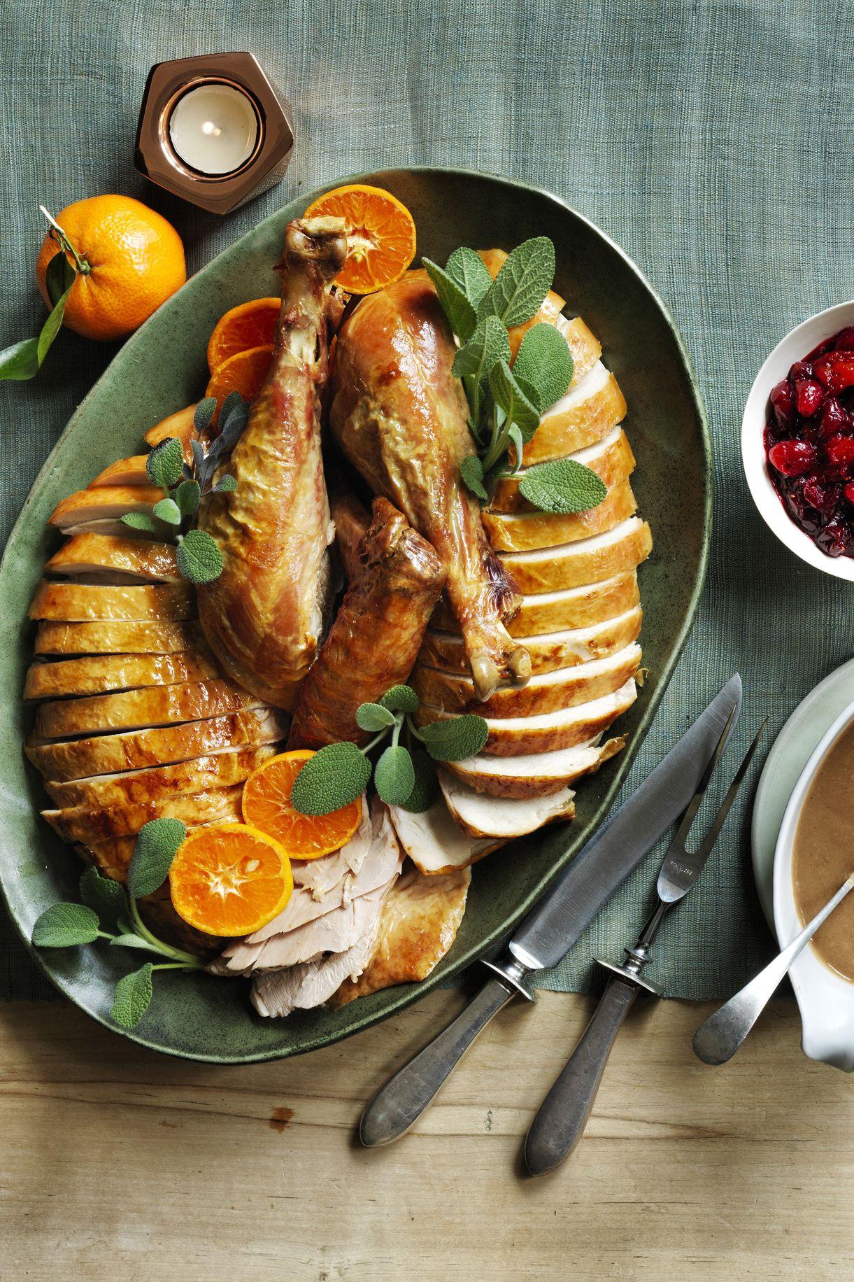 Sage and Orange Roast Turkey Thanksgiving Dinner