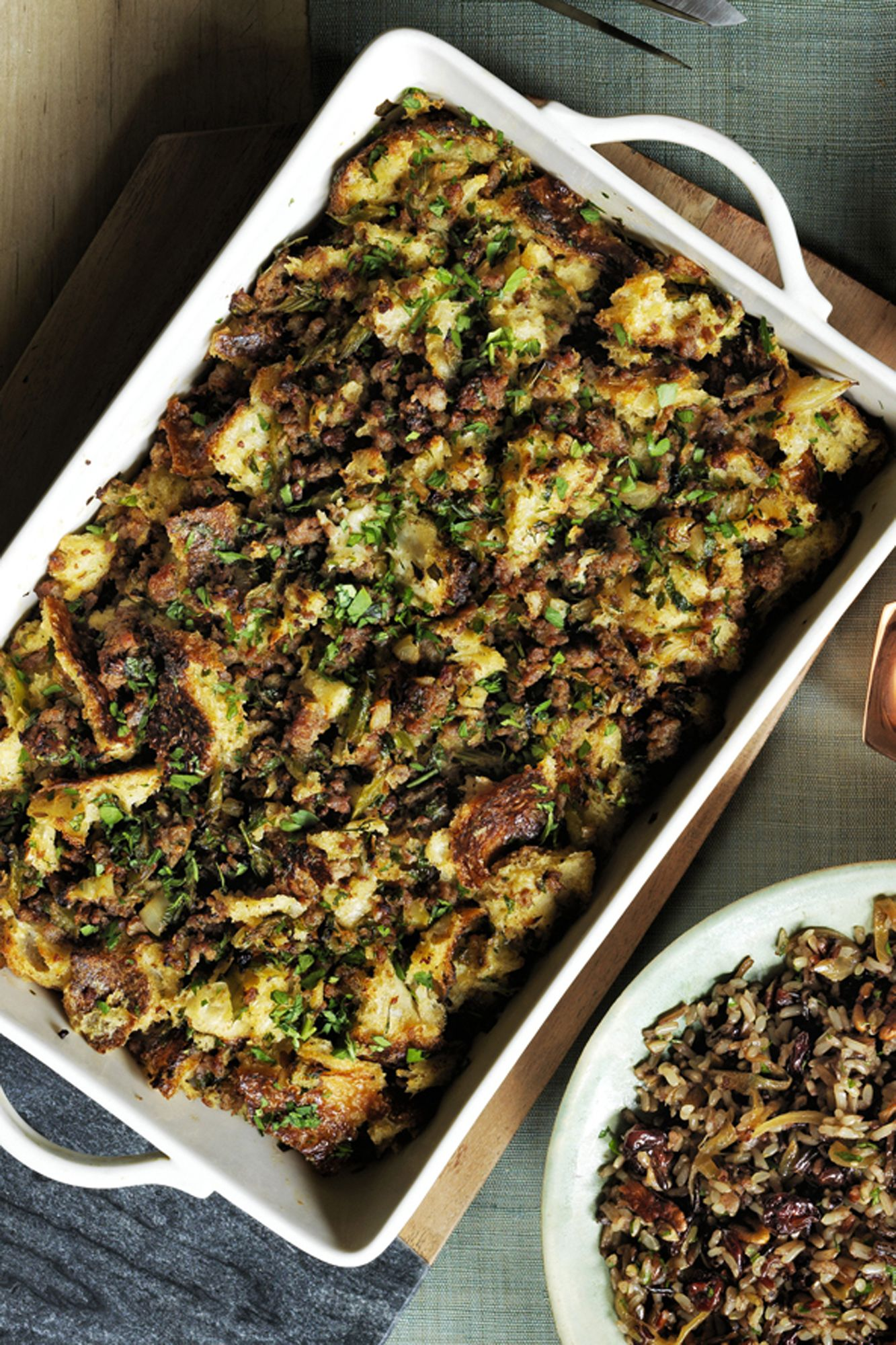 Sourdough Stuffing with Sausage and Herbs