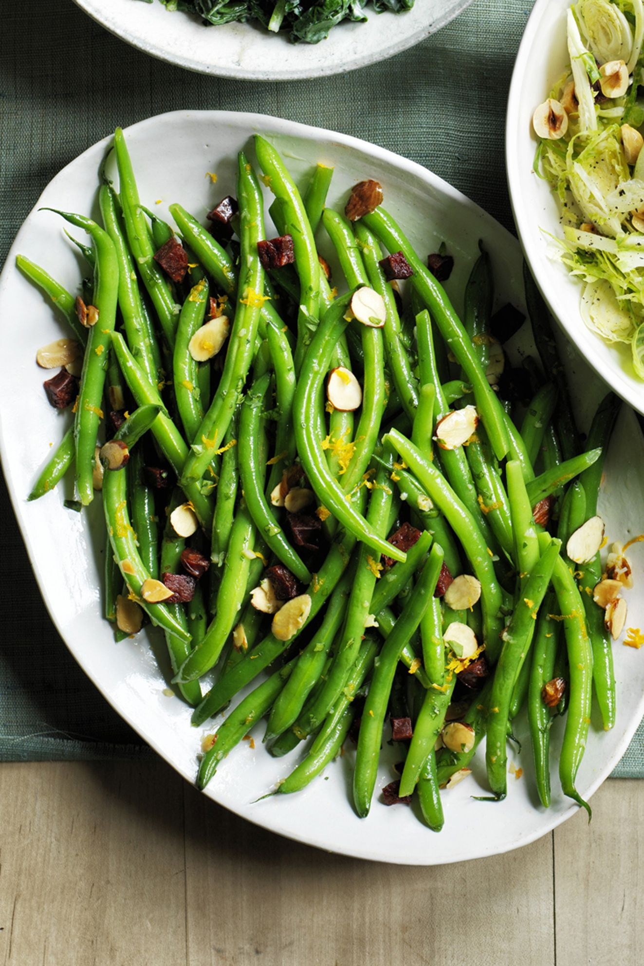 Green Beans with Chorizo Thanksgiving Side Dish