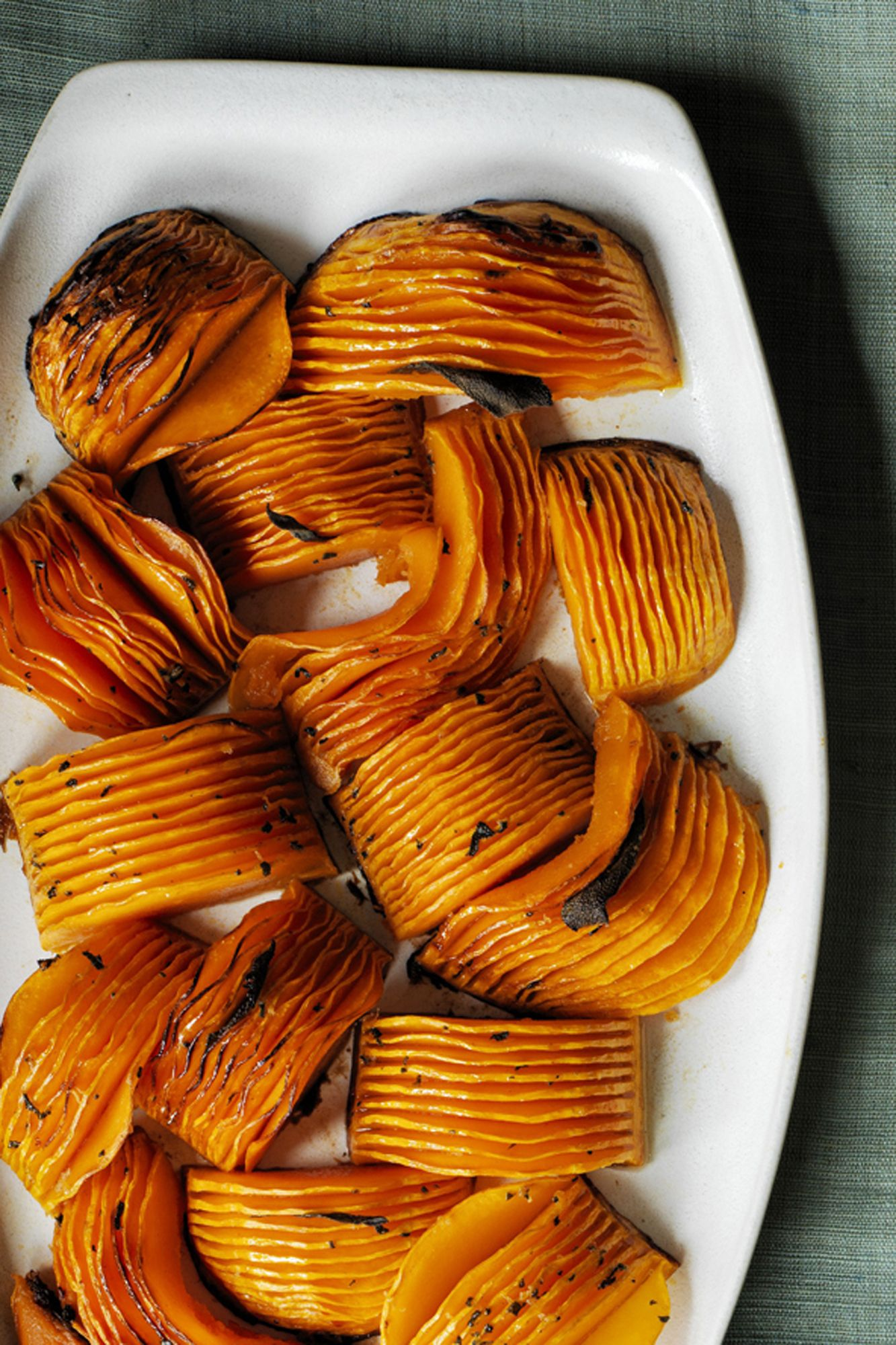 Hasselback Butternut Squash Thanksgiving Side Dish