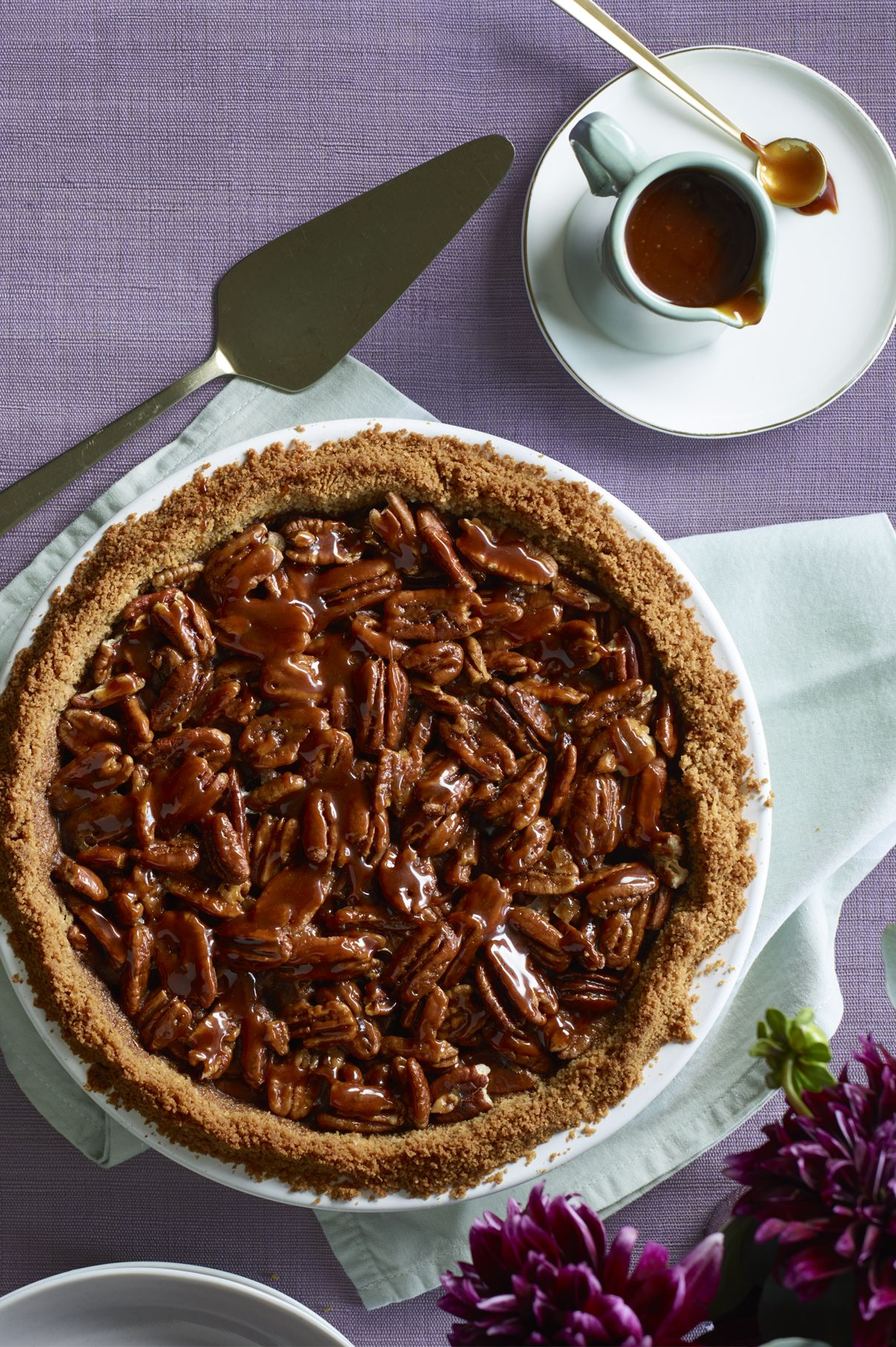 Salted Caramel Pecan and Chocolate Pie Thanksgiving Dessert