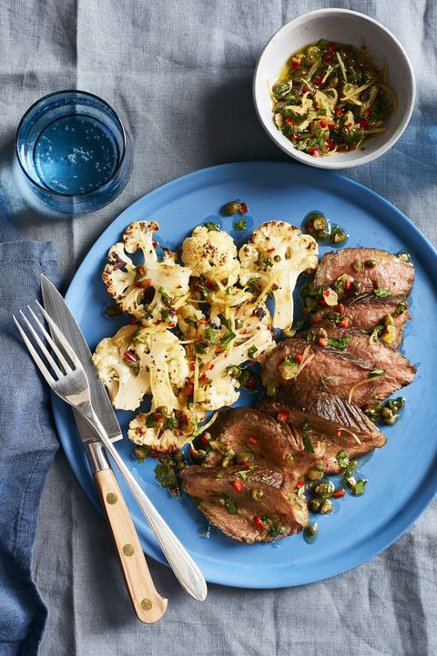 Steak and Cauliflower with Caper Relish 30-Minute Meal