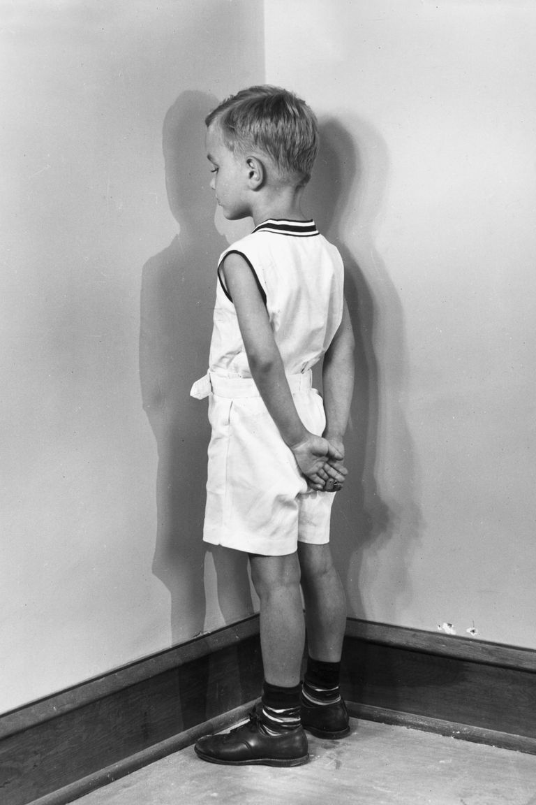 boy in time out