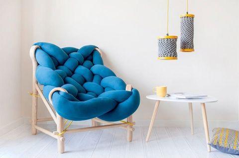 Furniture, Blue, Turquoise, Chair, Aqua, Couch, Room, Azure, Interior design, Table,