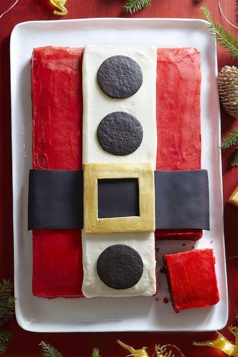 christmas desserts santa cake