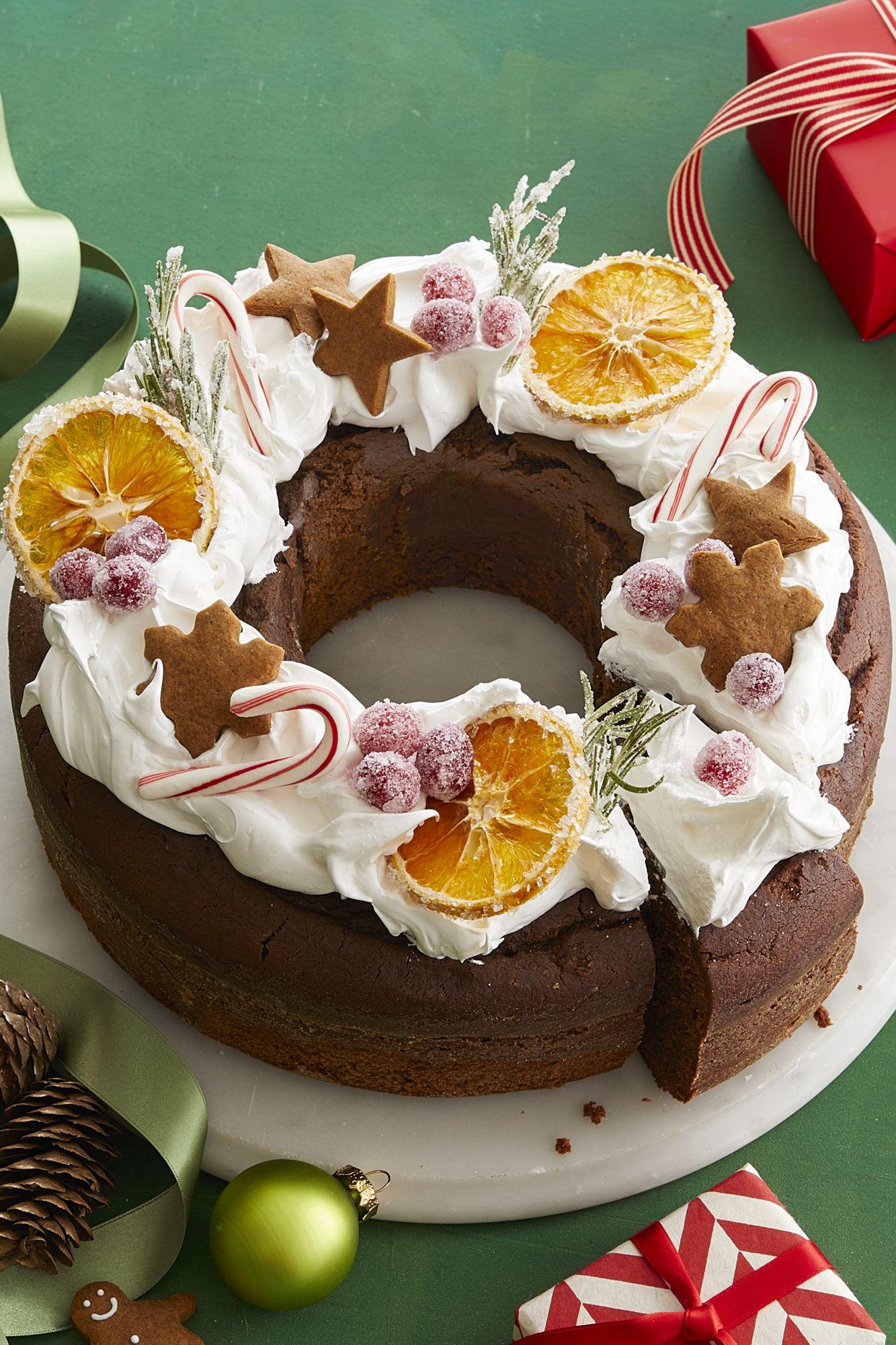 Wreath Cake Christmas Desserts