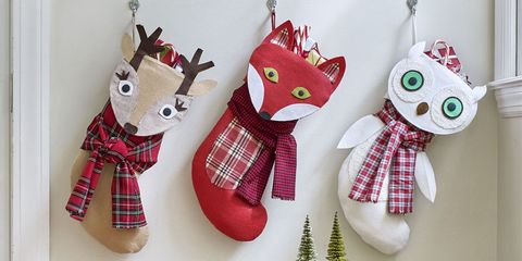 diy woodland stockings
