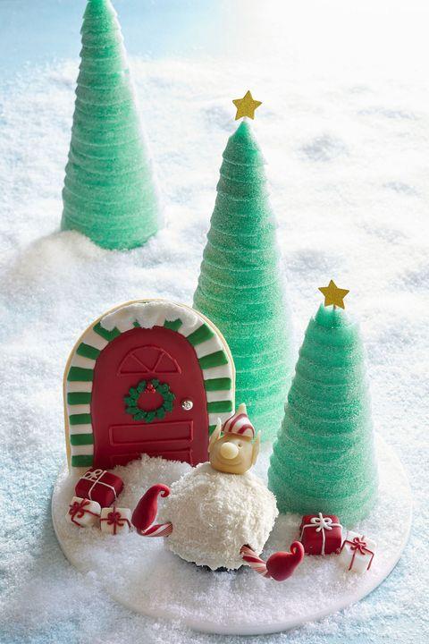 christmas desserts snowball cupcakes