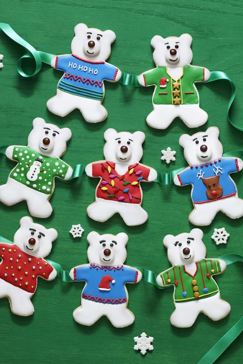 Christmas Cookies Polar Bear Sugar Cookies