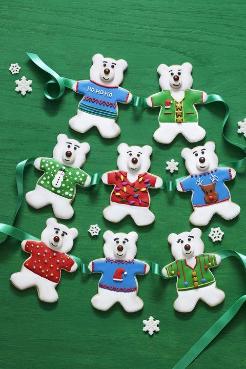 christmas dessertspolar bear sugar cookies