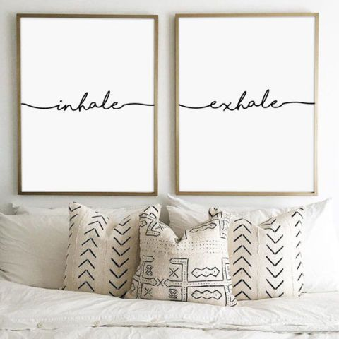 Yoga Gifts - Inhale Exhale Prints