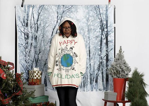 Whoopi Goldberg Christmas Sweaters.Whoopi Goldberg Ugly Christmas Sweater Line At Zappos 2017