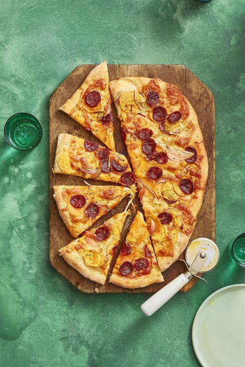 Family Dinner Ideas -Sweet Potato and Chorizo Pizza