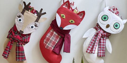 give a handmade touch to your holiday decor and display these beautiful stockings on your mantel this year