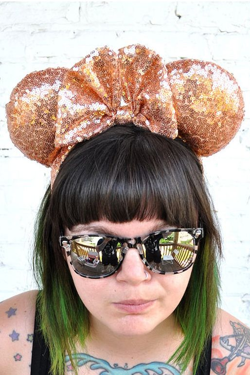rose gold mickey mouse ears